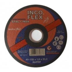 INCOFLEX TARCZA DO CIECIA STALI + STAL NIERDZEWNA (INOX) 125 x 1,0 x 22,2mm