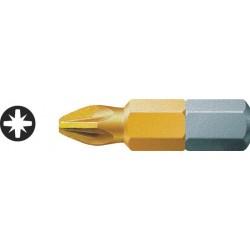 WERA KOŃCÓWKA / Bit (grot) krzyżowy Pozidriv (PZ) tytanowany TIN PZ2 x 25mm