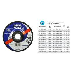 INCOFLEX TARCZA DO SZLIFOWANIA METALU  230 x 6,0 x 22,2mm WYPUKŁA