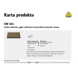 KLINGSPOR GĄBKA SZLIFIERSKA 123 x 96 x 12,5mm P100 SW501
