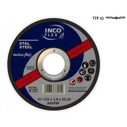 INCOFLEX TARCZA DO METALU 125 x 3,2mm WYGIĘTA