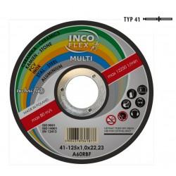 INCOFLEX  TARCZA UNIWERSALNA METAL / PCV / BETON 125 x 1,6mm MULTI
