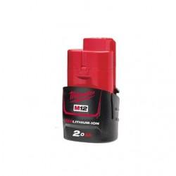 MILWAUKEE AKUMULATOR M12 B2 12V 2,0Ah RED LI-ION