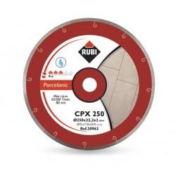 RUBI TARCZA DIAMENTOWA CPX 250 x 25,4mm PRO, DO GRESU PORCELANOWEGO