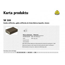 KLINGSPOR KOSTKA SZLIFIERSKA 100x70x25mm P220 SK500