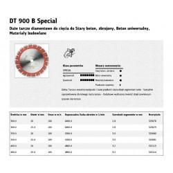KLINGSPOR TARCZA DIAMENTOWA SEGMENTOWA 350mm x 3,0mm x 20mm   DT900B