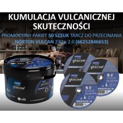 NORTON TARCZA VULCAN DO METALU 230 x 2.0 x 22.2mm-T41 A30S WIADERKO 50/szt.
