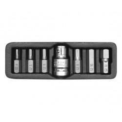 YATO KOŃCÓWKI IMBUSOWE 7elem. 4-12mm + ADAPTER 0412