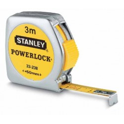 STANLEY MIARA  3m POWERLOCK METALOWA