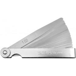 YATO SZCZELINOMIERZ 100mm 17 LISTKÓW 0.02-1.0mm 7220