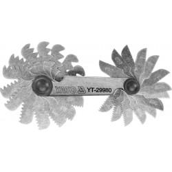 YATO SPRAWDZIAN GRZEBIENIOWY DO GWINTÓW METRYCZNYCH 60° 24 SZABLONY 0,25 - 6,0mm