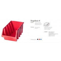 PATROL ERGOBOX 4 CZERWONY, 204 x 340 x 155mm