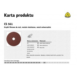 KLINGSPOR KRĄŻEK FIBROWY 115mm gr. 36 CS561 /25szt.