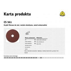 KLINGSPOR KRĄŻEK FIBROWY 115mm gr.100 CS561 /25szt.