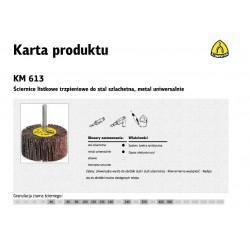 KLINGSPOR ŚCIERNICA LISTKOWA TRZPIENIOWA KM613  30mm x 20mm x 6mm gr. 60