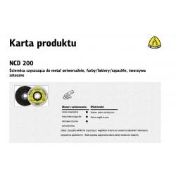 KLINGSPOR ŚCIERNICA CZYSZCZĄCA 125mm  NCD 200