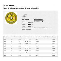 KLINGSPOR TARCZA DO SZLIFOWANIA METALU 115mm x 6,0mm x 22,2mm  A24 Extra
