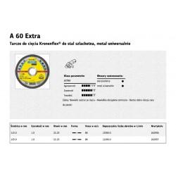 KLINGSPOR TARCZA DO CIĘCIA METALU 115mm x 1,0mm  A60 Extra