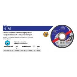 INCOFLEX TARCZA DO CIĘCIA METALU  115 x 2,5 x 22,2mm