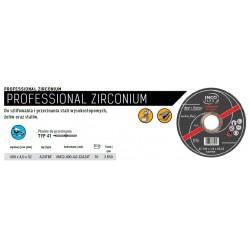 INCOFLEX TARCZA DO METALU  400 x 4,0 x 32mm PROFESIONAL ZIRCONIUM DO STALI WYSOKOSTOP./ŻELIW/STALIW