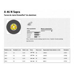 KLINGSPOR TARCZA DO CIĘCIA ALUMINIUM 230mm x 3,0mm  A46N Supra