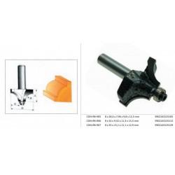 CONDOR FREZ DO DREWNA, DO ZAOKRĄGLEŃ Fi28,6 12,5 x 9,8 x 7,96mm TRZPIEŃ 8mm Z ŁOŻYSKIEM