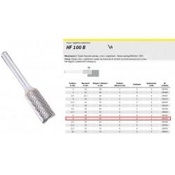 KLINGSPOR FREZ DO METALU HF 100 B FI8,0x19mm TRZPIEŃ 6mm TYP ZYAS, WALCOWY