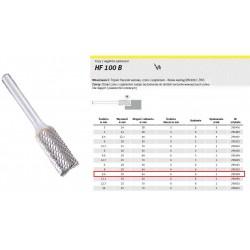 KLINGSPOR FREZ DO METALU HF 100 B FI9,6x19mm TRZPIEŃ 6mm TYP ZYAS, WALCOWY