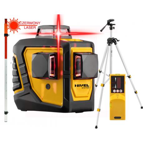 Nivel System CL3D Laser liniowy + statyw SJJ-M1 EX + odbiornik CLS-1 + łata LTL-240