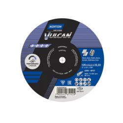NORTON TARCZA VULCAN DO METALU 125mm x 6.4mm x 22.2mm -T27  A30P