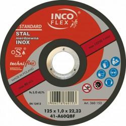 TARCZA METAL SZLIF.INCOFLEX  125*6,5INOX