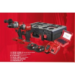 MILWAUKEE POWERPACK 18V FPD2+FID2+BITY+M12-18FC+PACKOUT+2x5,0Ah M18FPP2A2-502P