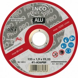 TARCZA METAL INCOFLEX  ALUM. 125*1,0
