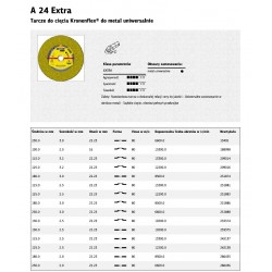 KLINGSPOR TARCZA DO CIĘCIA METALU 125mm x 2,5mm x 22,2m A24 Extra
