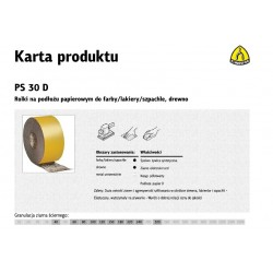 KLINGSPOR ROLKA NA PODŁOŻU PAPIEROWYM PS30D 115mm gr.100  (50mb)