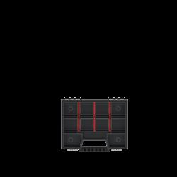 KISTENBERG  ORGANIZER NARZĘDZIOWY NOR08, 195x155x35mm CZERWONY