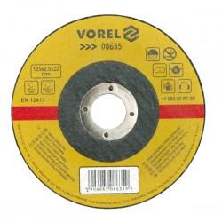 VOREL TARCZA DO CIĘCIA METALU 125 x 1,0 x 22,2mm  08631
