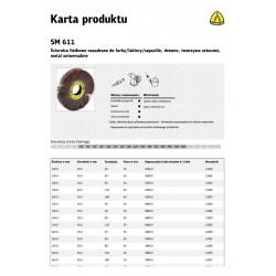 KLINGSPOR ŚCIERNICA LISTKOWA NASADZANA SM611 150mm x 50mm gr. 40