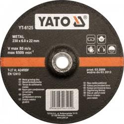YATO TARCZA DO SZLIFOWANIA METALU 125x6,0x22mm   6124