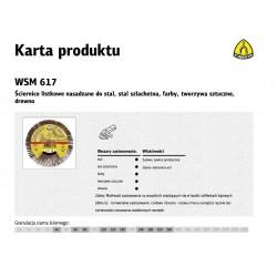 KLINGSPOR ŚCIERNICA LISTKOWA NASADZANA 125mm WSM617 gr. 60